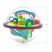 Generic Magic Intelligence Ball 3D UFO Maze Ball Labyrinth Puzzle Globe Toys 100 Challenging Barriers