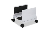 Metal Mobile CPU Stand, 10-1/4w x 10-5/8d x 9-3/4h, Light Grey, Sold as 2 Each