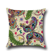 JYS Home Decor Pillow Case,Butterfly Flower Printed Throw Pillow Cushion Cover for Sofa Car