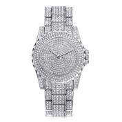 Sunbona Women Fashion Luxury Elegant Stainless Steel Full Crystal Bracelet Quartz Wrist Watches Ladies Dress Watches Jewery Gift