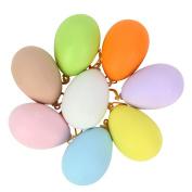 20Pcs Plastic DIY Coloured Drawing Doodle Egg Hanging Ornaments Easter Decoration