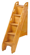 Night & Day Furniture PBBS-MO Bunk Storage Stairs for use with cinnamon twin/twin & full/full only, medium oak