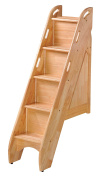 Night & Day Furniture PBBS-NA Bunk Storage Stairs for use with cinnamon twin/twin & full/full only, natural
