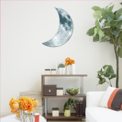 Hatop 3D Luminous Large Moon Fluorescent Wall Sticker Removable Glow In The Dark Sticker