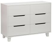 Angel Line Madison 6 Drawer Double Dresser, White