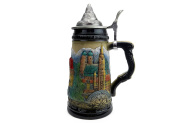 Essence of Europe Gifts Mountain Village Beer Stein with Lid