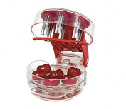 Rey 6Pit Cherry Pitter-kitchen good helper,Can help you easily removes pits from Cherries & Olives(red)