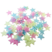 Zrong 100PCS Glow In The Dark Stars Stickers Home Wall Decal for Baby Kid's Nursery Room Luminous Wall Stickers