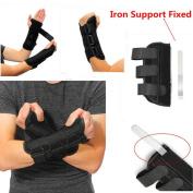 Pevor 1pc Carpal Tunnel Wrist Brace Support Forearm Splint Band Strap Sprain Forearm Splint Band Strap Protector Safe M size