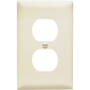 PASS & SEYMOUR TP8LACC100 1 Gang 1 Duplex Outlet Opening Nylon Wall Plate, Almond