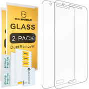 Mr Shield Tempered Glass Screen Protector for Samsung Galaxy J7 [Will Not Fit For Galaxy S7] - 2-Pack