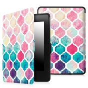 Fintie SmartShell Case for Kindle Paperwhite - The Thinnest and Lightest Leather Cover Auto Sleep/Wake for All-New Amazon Kindle Paperwhite (Fits All 2012 2013 2015 and 2016 Versions), Colourful Mosaic