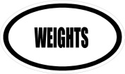 WEIGHTS Euro Style 15cm oval sports MAGNET
