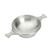 Edwin Blyde & Co Glasgow Bouquet Quaich with Satin Interior And Polished Outside, 10cm , Pewter