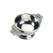 Edwin Blyde & Co Quaich with Ornate Celtic Wire and Celtic Serpent Handles, 5.1cm , Pewter