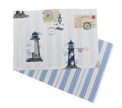 Maritimes Place mats, Placemat with Lighthouse Motif, Cotton