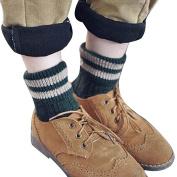 AMA(TM) Women Fashion Winter Knitted Cashmere Wool Thick Warm Striped Socks