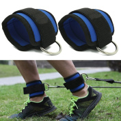 Gymforward Fitness Ankle Straps Leg Weight Exercise D-ring Ankle Cuff Wrist Belt Cable Attachment Workout, 1Pair