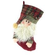 Christmas Santa & Snowman 3D Stocking, 41cm , 2-Piece