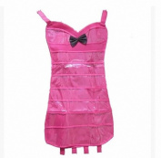IDecHome Bow Bikini Dress Hanging Jewlery Organiser, Dual Sided Pockets Hooks Non-Woven Storage Bag