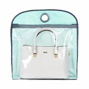 IDecHome Nylon PVC Hanging Handbag Organiser, Closet Storage Purse Holder Pocketbook, Stripes