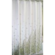 mDesign Botanical Fabric Shower Curtain - 180cm x 180cm , Verde Green