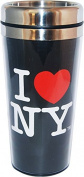 I Love New York Large Black Travel Mug Perfect souvenir Travel mug for Iced Coffee in Summer and a Hot beverage in winter