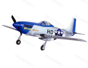 4CH 2.4Ghz Mustang P51D Warbird Electric RC Aeroplane w/Brushless Motor RTF