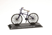 Miniature Bicycle Diecast. Model Cross-frame Safety Bicycle 1888 - 1/15 Scale bic071