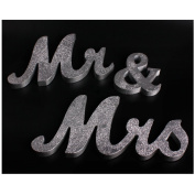 Andux MR & MRS Wooden Letters for Wedding Decoration Decorative Signs HLBJ-03