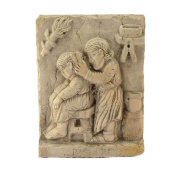 Bas-Relief Mestiere Antique Barber In Marble of TRANI Hand Sculpted