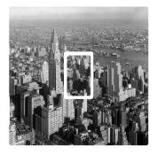 Black & White New York NYC Vinyl Light Switch Cover Sticker