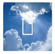 Cloud Novelty Vinyl Light Switch Cover Sticker