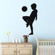 Playing Football Boy Wall Sticker for Children Room Decor