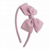 Poplico Headband Butterfly Bow, Large, Antique Pink