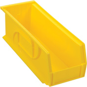 Plastic Stacking Bin, 13cm - 1.3cm W X 36cm - 1.9cm D X 13cm H, Yellow - Lot of 12