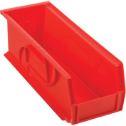 Plastic Stacking Bin, 13cm - 1.3cm W X 36cm - 1.9cm D X 13cm H, Red - Lot of 12