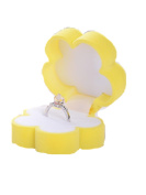 LEERYA Sunflower Shape Lovely Earrings Ring Velvet Gift Box Jewellery Necklace Case