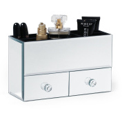 Beautify Mirrored Glass Jewellery Box & Cosmetic Organiser