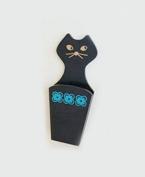 BeeChamp Magnetic Fridge Cute Cat Scissors Knife Holder, Made of Wood
