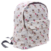 Pugs and Kisses Rucksack Casual Daypack Cute Pugs Design by Sport e Tempo Libero