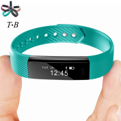 Fitness Tracker Smart Bracelet TopBest ID115 Bluetooth Call Remind Remote Self-Timer Smart Watch Activity Tracker Calorie Counter Wireless Pedometer Sport Band Sleep Monitor For Android iOS Phone