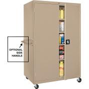 Sandusky Lee TA4R462472-04 Transport Series Mobile Storage Cabinet, Tropic Sand