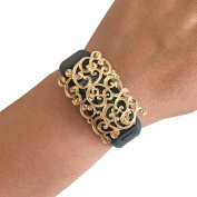 Charm to Accessorise the Fitbit Charge, Charge HR and Other Fitness Trackers - The SCROLL Gold Filigree Charm to Dress Up Your Favourite Fitness Tracker