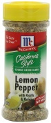 McCormick California Style Coarse Grind Blend Lemon Pepper with Garlic and Onion, 140ml
