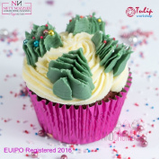 Christmas Tree Cake Decoration Nozzle - Fully Tested for EU Regulations - Dishwasher Safe Piping Nozzles