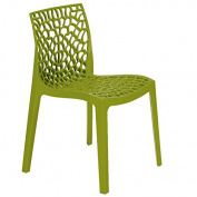 Anise Green Polypropylene Chair - Plastic Chair for Inside and Outside - Commercial and home use
