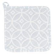 Pot Holder Kitchen Accessories Cloth Grey Crossed Circle Coaster