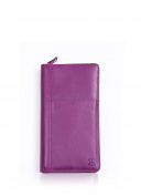 Luxury Real Soft Leather Travel Planner and document wallet in Pink