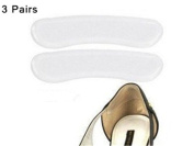 Interesting® 3 Pairs High Heel Silicone Gel Cushion Shoes Transparent Pad Feet Foot Care